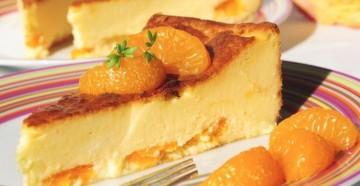 Пудинг с мандарином, рецепт