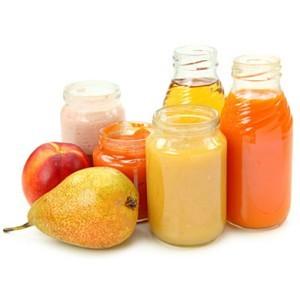Овощные и фруктовые пюре для новорожденных