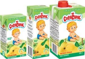 Соки для деток первого года жизни