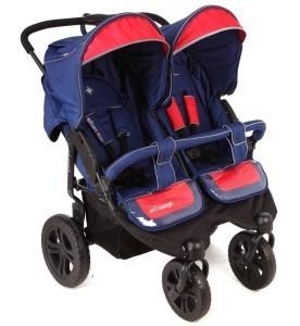 Обычная коляска для двойняшек