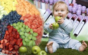 Пищевой рацион с железом для младенца