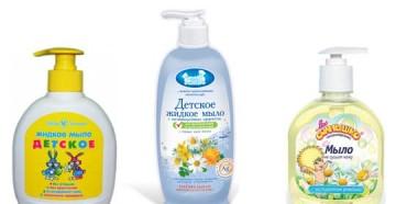 Как выбрать жидкое мыло для новорожденного