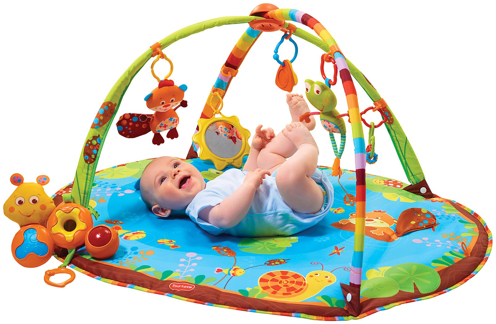 Коврики для грудничков с дугами и игрушками