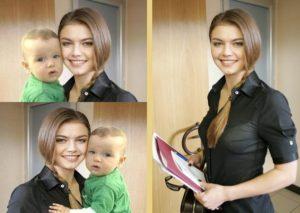 Алина Кабаева с ребенком