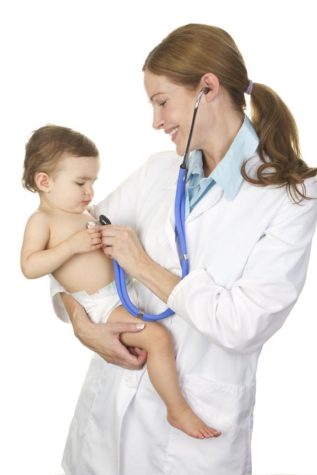 Точный диагноз грипп у детей грудного возраста ставит педиатр