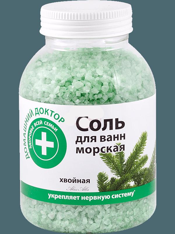 Морская соль для ванночек детям до года с хвоей поможет укрепить нервную систему