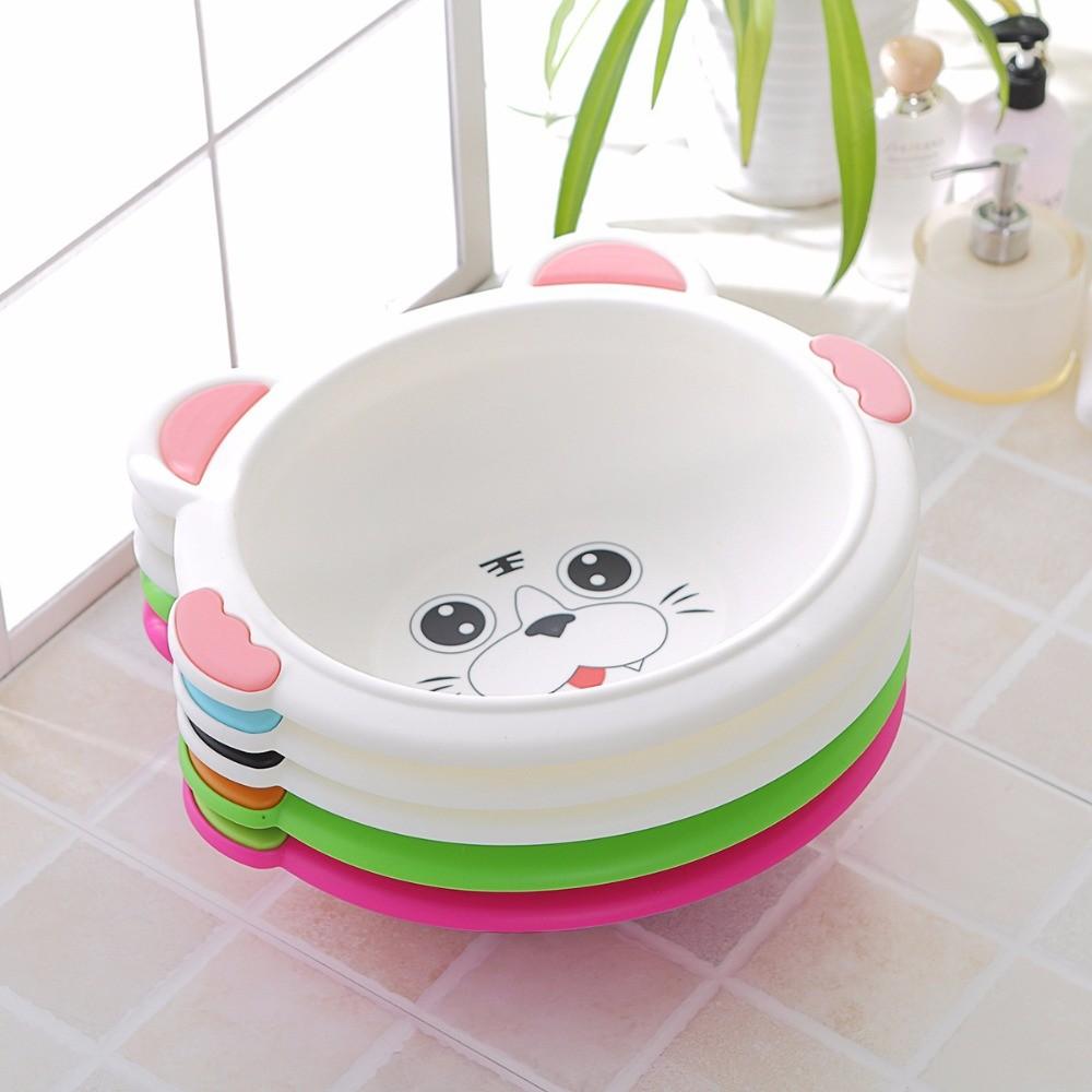 Круглые ванночки для купания новорожденных из прочного пластика с термодатчиком, реагирующим цветом на температуру воды
