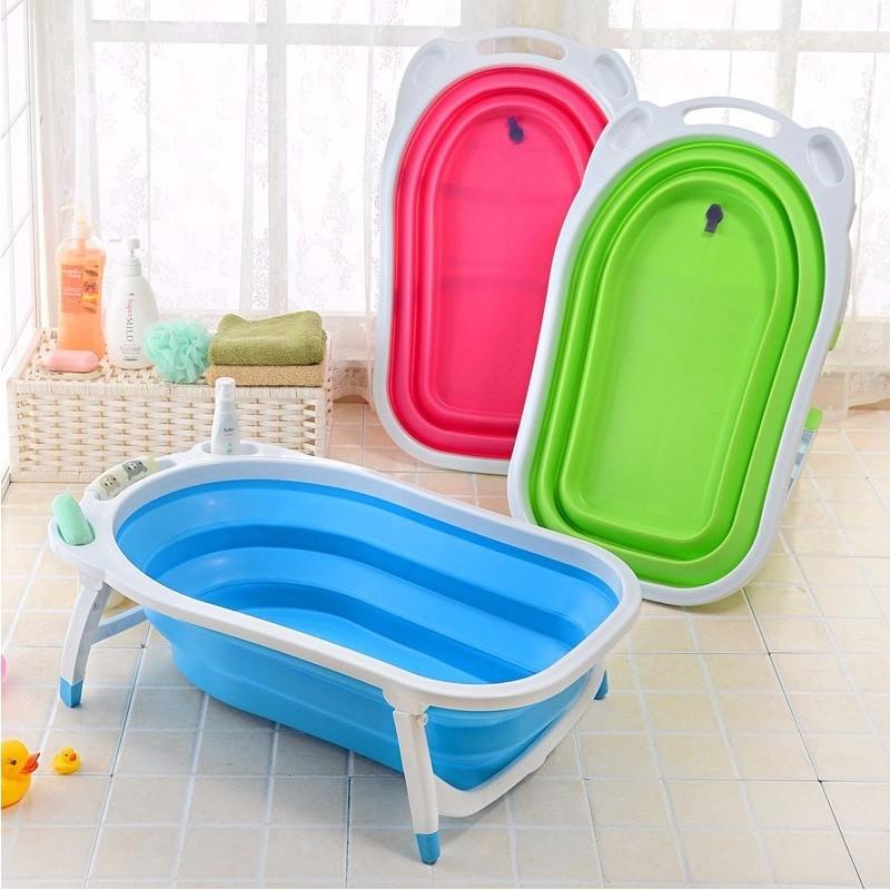 Складная ванночка для новорожденных довольно герметична и удобна для хранения