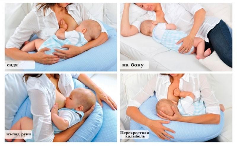 позы для кормления новорожденного